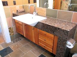 Bathroom Countertop Tile Ideas Tile Glass Tile Bathroom Countertop Home Design Awesome Classy