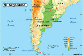 physical map of argentina argentina geographical map