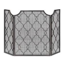uttermost charlie fireplace screen farmhouse glam decor
