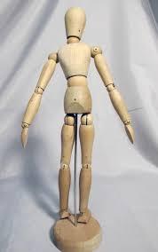 wooden human artist model