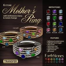 mothers ring 6 stones second marketplace earthstones s ring 6