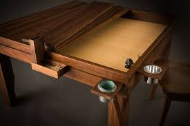 Game Table Plans Geek Chic Dream Table Two Leaves Removed Bamboo Upgraded Game