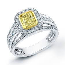 canary engagement ring 1 62 ct canary yellow radiant cut ring canary
