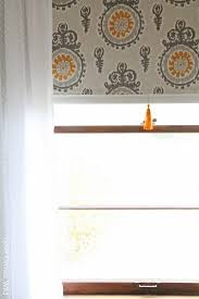 How To Make Material Blinds Fabric Covered Roller Shades With Handmade Tassel Love Grows Wild