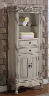 Linen Cabinets For Bathrooms Oak Linen Cabinet For Bathrooms - Antique white bathroom linen cabinets