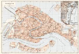 venice map map of venice and laguna veneta in 1911 buy vintage map