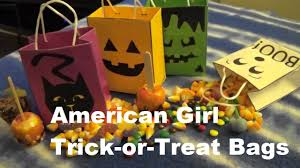 make trick or treat bags for american doll youtube