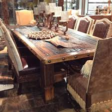 Rustic Kitchen Furniture Rustic Wood Dining Table And Add Barn Style Table And Add Narrow