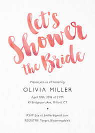 bridal shower bridal shower invites mailed for you postable