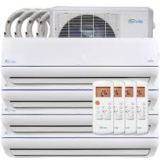 ductless mini split air conditioner senville 36000 btu quad zone mini split air conditioner heat pump