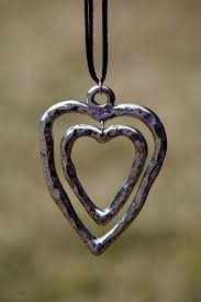 metal heart necklace images Hammered metal heart necklace angel heart boutique accessories JPG