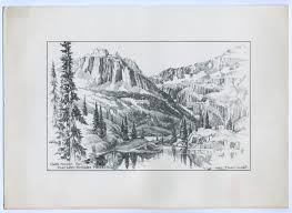 edward goodall pencil sketches of british columbia from the 1950s
