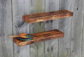 Floating Wooden Shelves by Kitchen Stunning Shelves 35