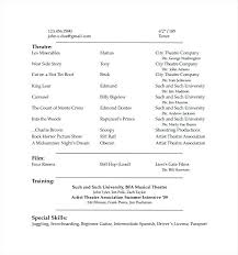Resume Template For Actors by Child Acting Resume Pdf Free Downlaod Free Acting Resume Template