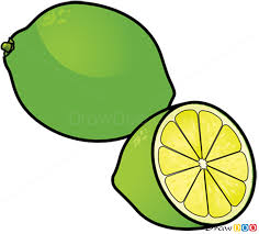 how to draw lime fruits