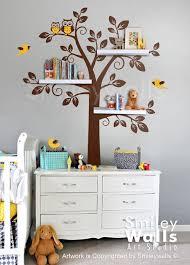 Nursery Tree Wall Decal Children Wall Decal Shelf Tree Wall Decal Tree Wall Decal