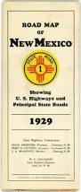 State Map Of New Mexico by Early New Mexico State Highway Department Road Maps