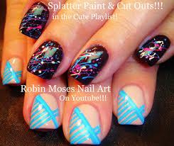 robin moses nail art color dripping nail design