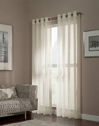 French Pole Curtain Rod by Melrose Shimmer Sheer Grommet Curtain Panel Curtainworks Com