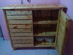 How To Build A Buffet Cabinet by Diy Pallet Sideboard Or Kitchen Cabinet