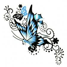 blue butterfly sticker temporary canada