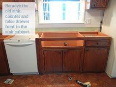 Diy Kitchen Sink by Installing An Ikea Farmhouse Sink In An Existing Cabinet Sinks