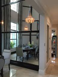 dining room awesome full wall mirrors silver framed mirror
