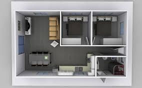 the belinda two bedroom granny flat design top down view of granny flat render