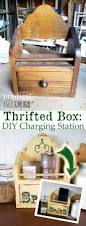 diy charging station from thrifted box prodigal pieces