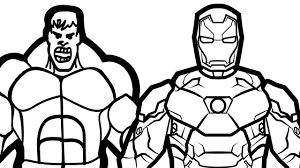 iron man vs hulk coloring pages for kids coloring book kids fun