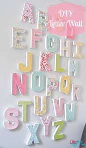 Wall Writings For Bedroom How To Make Your Own Letter Wall Diy Letters Letter Wall Art