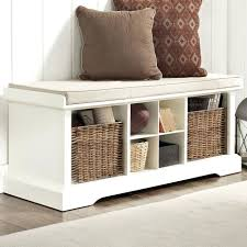 image of wood entryway bench with shoe storage coaster entryway