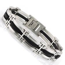 stainless steel mens bangle bracelet images 14mm 316l stainless steel mens bracelets bangles silver black jpg