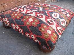 Kilim Storage Ottoman Furniture Kilim Poufs Small Leather Ottomans Kilim Ottoman