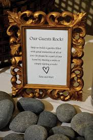 signing rocks wedding guest book river rock guest signing wedding decor idea