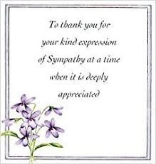 thank you for sympathy card bereavement thank you notes lovely wording exles