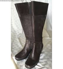 clarks womens boots size 9 womens boots gray taupe leather clarks dress boot size 9 1 2