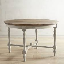 48 by 48 table amelia 48 natural stonewash round dining table pier 1 imports