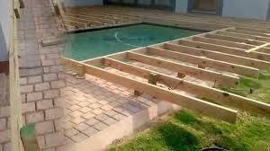 deck around inground pool pool ideas pinterest decking
