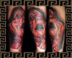 screaming faces horror tattoo design photos pictures and