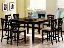 black wood dining room table high dining room tables sets home decorating interior design