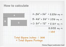 total square footage calculator how calculate square footage for countertops measure convert feet