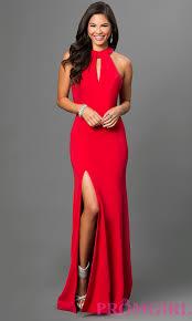 open back long red terani prom dress promgirl