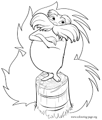 lorax coloring pages pdf here s a awesome coloring page of the lorax the guardian of the