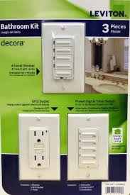 Tork Plug In Timers Dimmers by Amazon Com Leviton Bathroom Decora 3 Pack 4 Level Dimmer Gdci