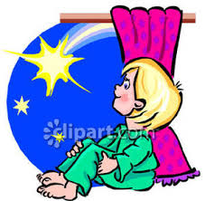child sitting clipart sitting in his window looking at a shooting star royalty free