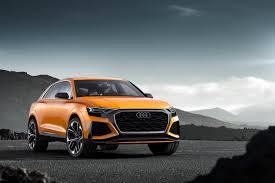 audi rsq concept car audi q8 sport concept rs style hybrid suv debuts in geneva evo
