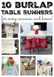burlap table runners the country chic cottage