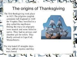 the origins of thanksgiving the thanksgiving took place in