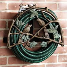 accessories awesome white metal wheeled decorative garden hose